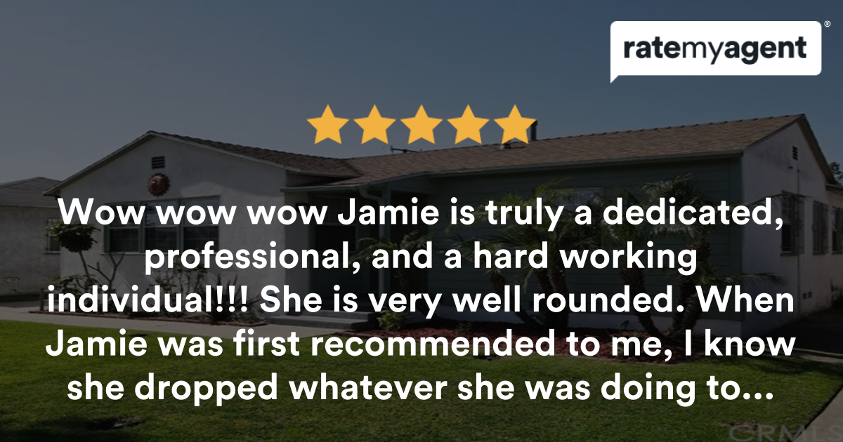 Look no further, Jamie is the one! - Jamie Durity agent review | RateMyAgent